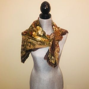 Accessories - Floral Wrap Scarf